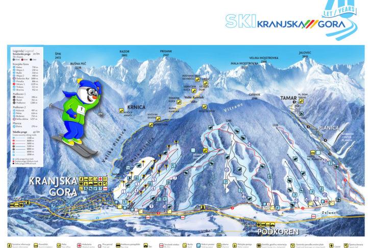 Slope map Kranjska Gora.