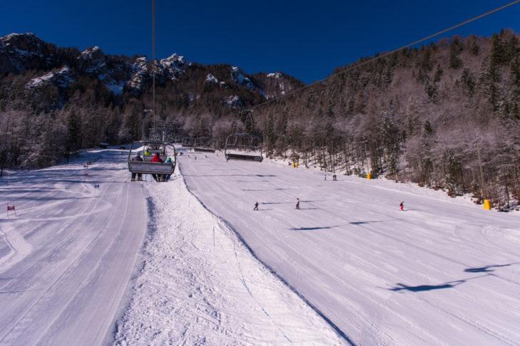 Die breiten Pisten im Skigebiet eignen sich hervorragend für Einsteiger.
