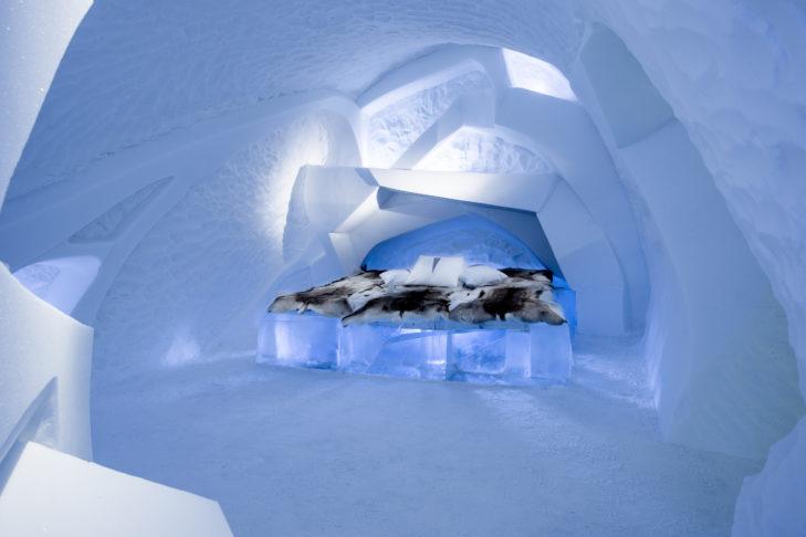 Eine außergewöhnliche Art-Suite des Ice Hotels in Schweden.