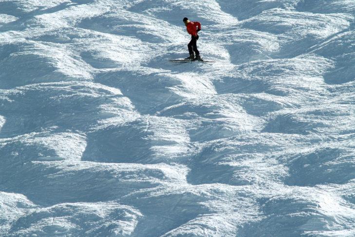 Buckelnpisten sind erfahrenen Skifahrern vorbehalten.