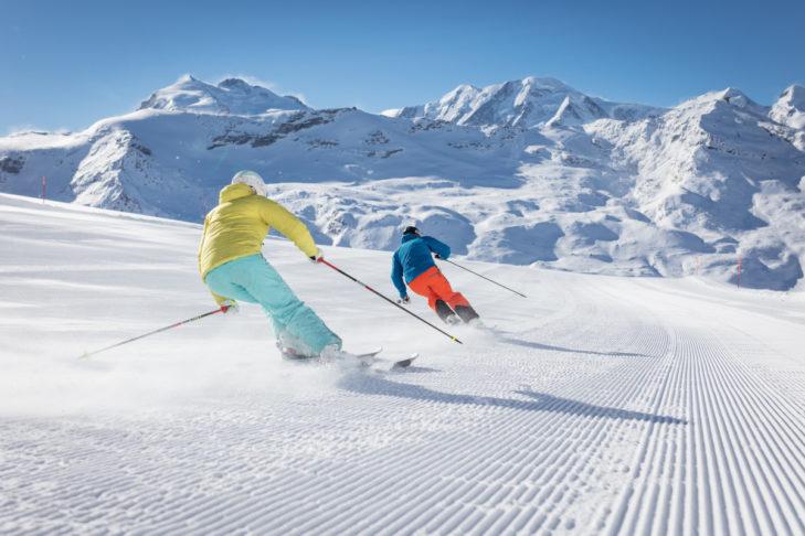 Im Skigebiet Zermatt gibt es ganzjährig Schnee!