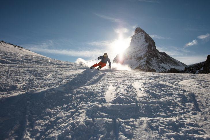 Skifahren in Zermatt: Traumkulisse Matterhorn.