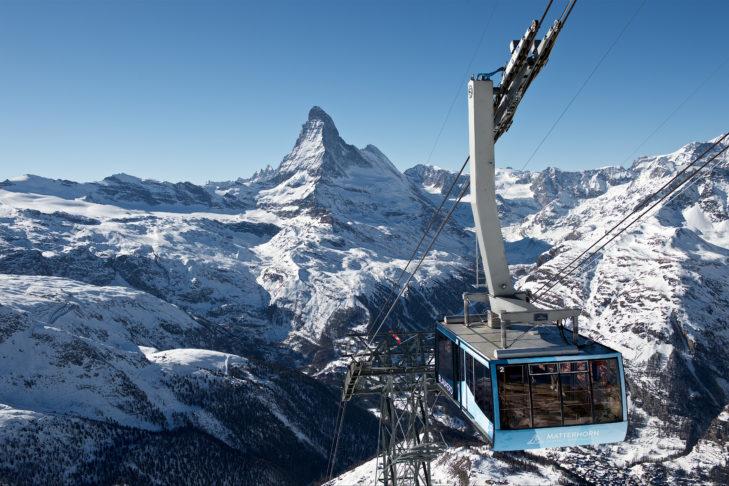 Das Matterhorn ist das Wahrzeichen der Schweiz.