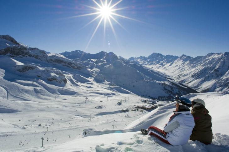 Traumpanorama im Skigebiet Ischgl.