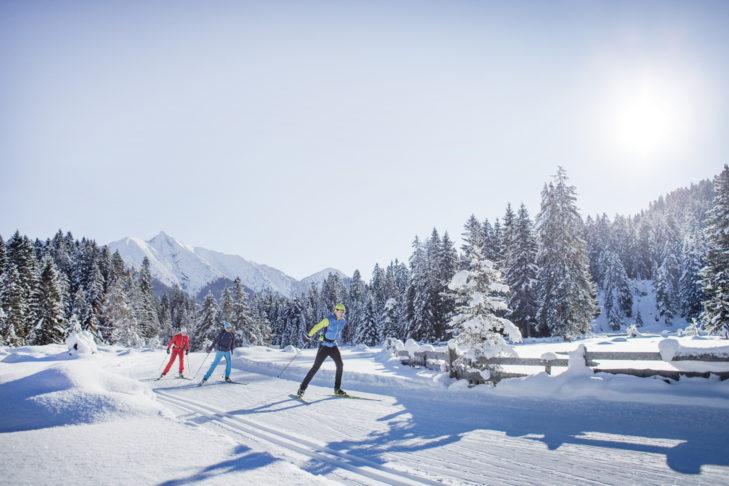 Langläufer in der beliebten Langlaufregion Seefeld.