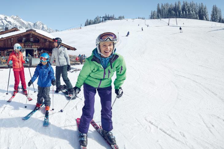 Die urigen Skihütten in den Skigebieten laden zu einer gemütlichen Pause ein.