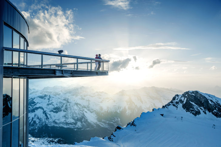 """Die Aussichtsplattform """"Top of Salzburg"""" am Kitzsteinhorn."""
