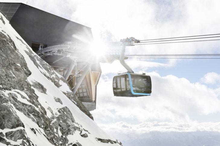 Die höchstgelegene 3S-Bahn der Welt in Zermatt.