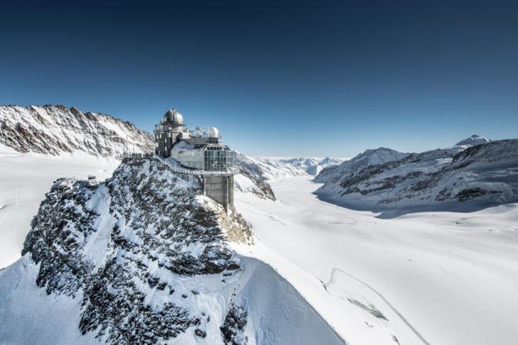 Das Jungfraujoch ist Europas höchstgelegener Bahnhof.