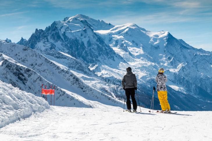 """Auch noch im April herrschen auf den 150 Pistenkilometern des Skigebiets """"Espace San Bernardo"""" beste Bedingungen."""