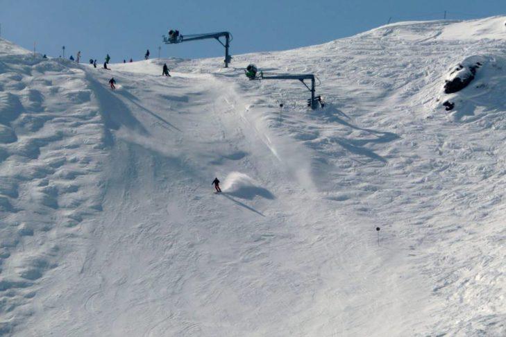 Auch am Golm geht es auf der Diabolo steil bergab.