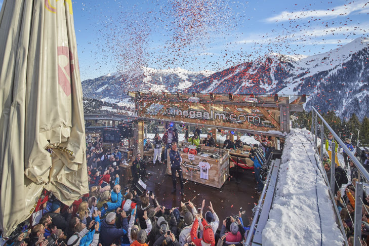 Die beste Stimmung im Skigebiet Saalbach-Hinterglemm finden Wintersportler auf der Walleggalm.