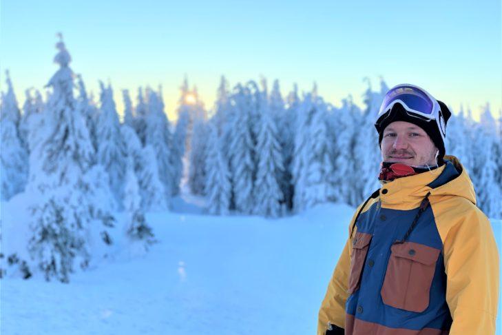 Unser Interview-Partner Kevin Blaschek von den Hochficht Bergbahnen.