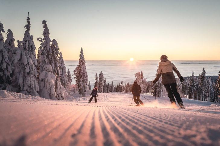 Idylle pur im Skigebiet am Hochficht.