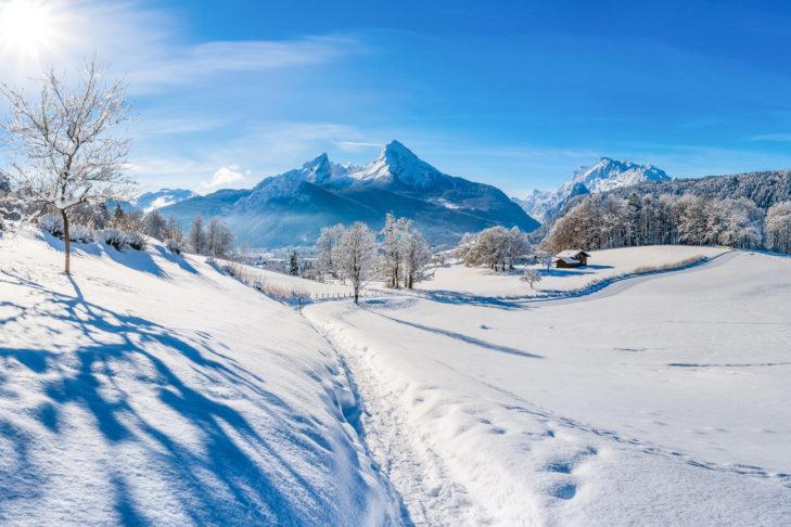 Der berühmte Watzmann in den Berchtesgadener Alpen.