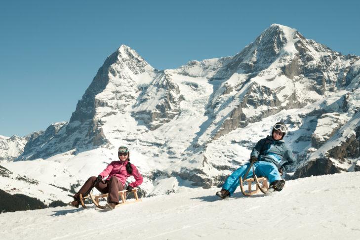 In der Jungfrau Region gibt es die längste Schlittenabfahrt Europas!