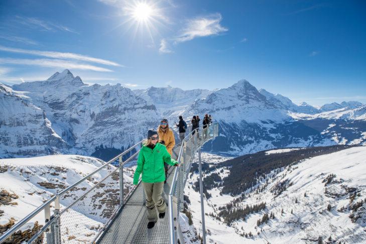 Der Cliff Walk führt nicht nur rund um den Berg, sondern hat ebenfalls noch einen kleinen Vorsprung.